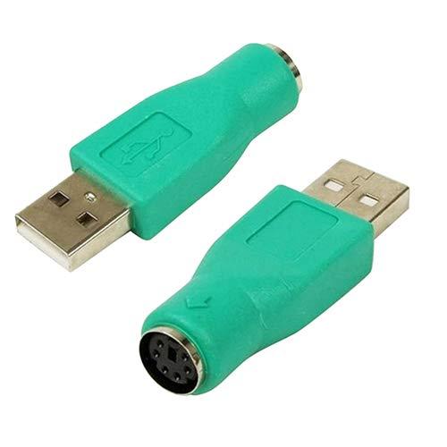 BeonJFx Adapter USB männlich auf PS/2 weiblich für PC Computer Tastatur Maus - Weiblich-tastatur-maus
