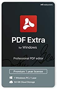 PDF Extra - Professional PDF Editor – Edit, Protect, Annotate, Fill and Sign PDFs - 1 PC/ 1 User / 1year Subsc