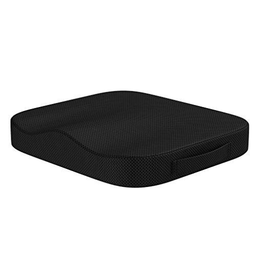 bonmedico Comfort Cushion, Ergonomisches Sitzkissen für besten Sitzkomfort, Stuhlkissen aus innovativem Memory Foam, Sitzpolster universell einsetzbar -