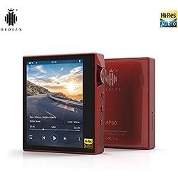 Lecteur MP3 Bluetooth Hi-Fi HIDIZS AP80, lecteur audio numérique haute résolution portable avec LDAC / aptX / DSD, lecteur de musique sans perte avec écran tactile complet (Rouge)