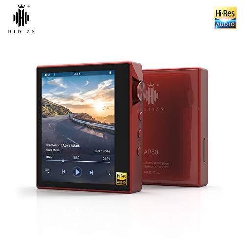 HIDIZS AP80 Ultraportable HiFi-Musik-Player Bluetooth-MP3-Player Hochauflösender Audio-Player (Rot) - Audio Voice Bluetooth