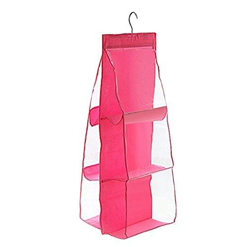 Domybest Aufhängen Aufbewahrungstasche Organizer doppelseitigem Door Hanging Aufbewahrungstasche transparent Handtasche Holder Organizer (3