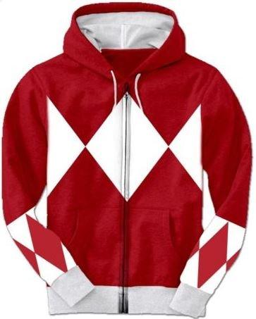 Power Rangers Hoodie Hooded Sweatshirt Zip Cotton Baumwolle Hooded Sweatshirt Medium Baumwolle