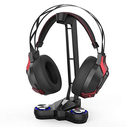dodocool PS4 Gaming Headset, 7.1 Surround Sound PC Kopfhörer mit Mikrofon Lautstärkeregelung, Geräuschisolierung, LED Licht, USB Stecker