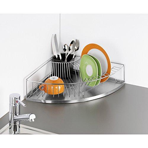 Wenko 2371100500 Corner cutlery, stainless steel, 37.5 x 10.5 x 37.5 cm, silver