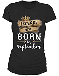 Legends Are Born In September Geburtstag Geschenk T-Shirt Damen