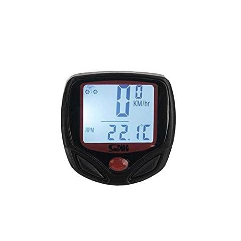 evertrust (TM) Wasserdichte UK SUNDING 23Funktionen Digital LCD Hintergrundbeleuchtung Wired Fahrrad Computer Bike Kilometerzähler Tachometer
