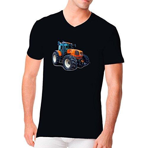 Traktoren Männer V-Neck Shirt - Traktor Renault Ares by Im-Shirt - Schwarz XL
