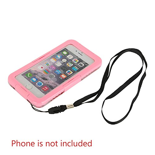 Julyfox IPX8 Professional Waterproof Case For iPhone 7(4.7 inch) Scratchproof Touch Compatible(Yellow) Pink
