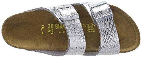 Birkenstock Arizona Bf Metallic, Sandali donna Argento (Argent (metallic Snake Silver))
