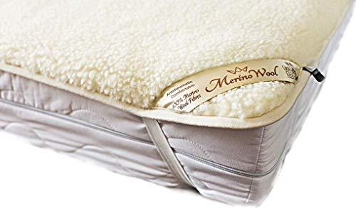 Coprimaterasso reversibile lusso & Warm & reversibile 100% lana di lana merino, lenzuolo per lettino, misura: 60x 120cm