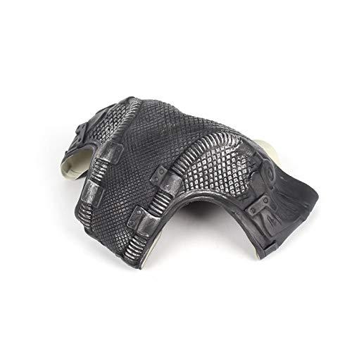 DEjasnyfall Universal Bane Maske Batman Cosplay Helm 3D Bane Latex Maske Mit Sprachwechsler Halloween Kostüm Zubehör Für Party (schwarz & (Bane Kostüm Design)