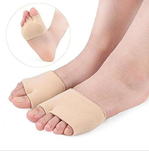 Purastep Gel Metatarsal Head Morton Neuromas Atrophy Flat Pad Splay Foot Corn Feet Pressure Relief Care Sleeve with Insole Ball of Cushion (Large)