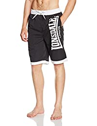 "Lonsdale ""Clennell"" Bade Short (black/white)"