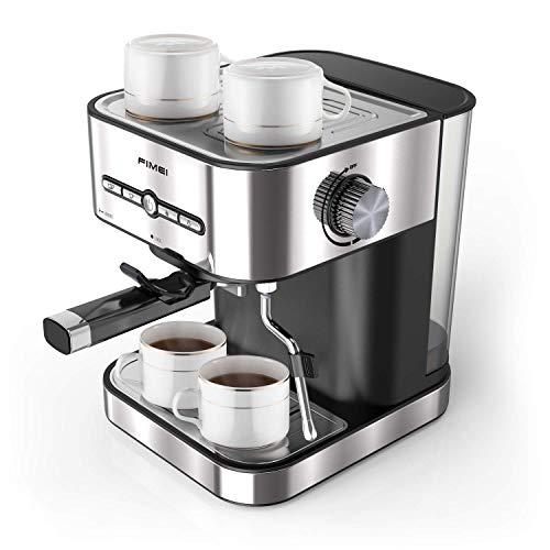 FIMEI Macchina Caffè, Macchina Caffè Espresso Italiano Manuale con Pompa 15 Bar in Acciaio Inox, Ideale per Caffe, Cappuccino e Moka (Spina Eur)