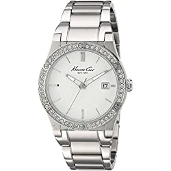 Kenneth Cole 10022787 - Reloj de pulsera Mujer, acero inoxidable, color Plata
