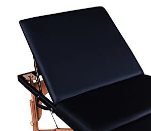 Massage Imperial® Deluxe Lightweight Black 3-Section Portable Massage Table Couch Bed Reiki