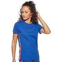 Nike Women's LOGO TAPE T-Shirt, Pink , Medium