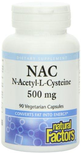 N-acetil-L-cisteína, 500 mg, 90 Veggie Caps - Factores Naturales