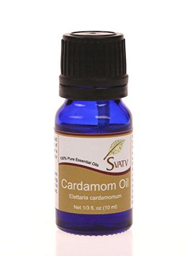 SVATV Cardamome (Elettaria cardamomum) Huile essentielle 10 ml (1/3 oz) 100% pure,...