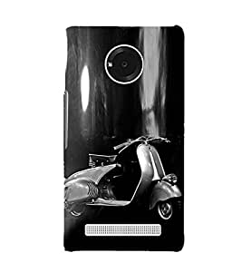PrintVisa Two wheels Move The Soul 3D Hard Polycarbonate Designer Back Case Cover for YU Yuphoria :: YU Yuphoria YU5010