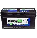 GELBatterie Gel Batterie 110Ah Marine Bootbatterie Boot 12V Wartungsfrei Batterie Statt 140Ah 130Ah 120Ah 100Ah