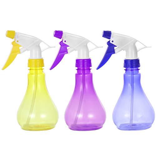 OUNONA 3 STÜCKE 250 ML Kunststoff Sprühflasche kleine Gießkanne für Blumen Zimmerpflanzen (gelegentliche Farbe)