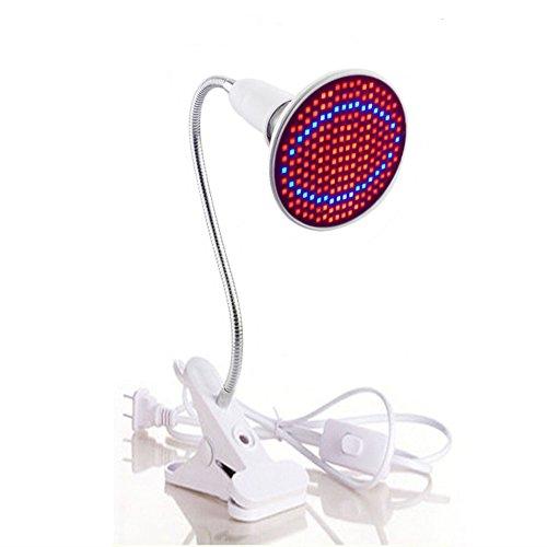 Ocamo Pflanzenlichter Anlage E27 20W 200 LED 2835SDM wachsen Licht mit Klipp rotem u. Blauem Licht f¨¹r Innenwasserpflanzen Gem¨¹seanbau Gartenbau industrieller S?mling