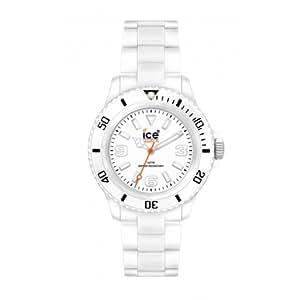 Ice Watch - CL.WE.S.P.09 - Montre Femme - Quartz Analogique - Cadran Blanc - Bracelet Plastique Blanc - Petit Modèle