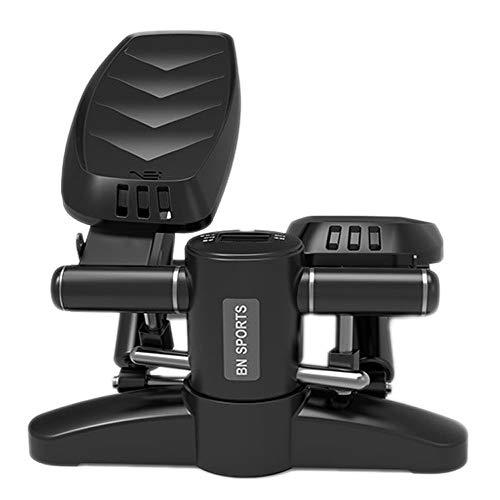 K-Y Mini Stepper Geräuscharmer Treppensteiger-Stepper, Fitness-Übungs-Maschine Smart LED Hydraulic - Hometrainer (Farbe : Schwarz)