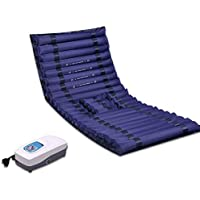 Colchón de presión alterna Jet Wave Care Anti-decúbito colchón de Aire Topper Pad para la Bomba de Dolor de Cama Ajustable, prevención de úlceras, Tratamiento postrado,Hole