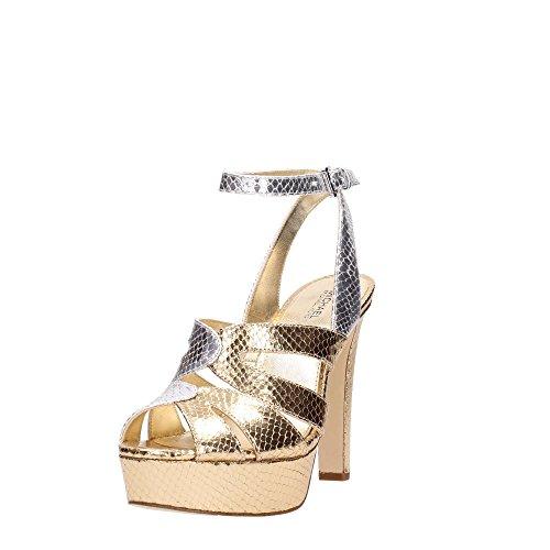 Michael Kors 40S7WNHA1M Sandalo Donna Gold/Silver