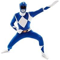 Morphsuits Disfraz para adulto con diseño Azul Power Ranger, talla XL (MLPRBLX)