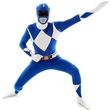 Morphsuits - Disfraz para adulto con diseño Azul Power Ranger, talla XL (MLPRBLX)