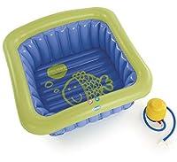 0 - 5 anniVasca da bagno di plastica gonfiabile dal design esclusivo realizzata pensando al bisogno di comodita' e sicurezza per il bambino.Puo' essere utilizzata per fare il bagno anche a 2 bambini contemporaneamente.Oggi nella maggior parte...