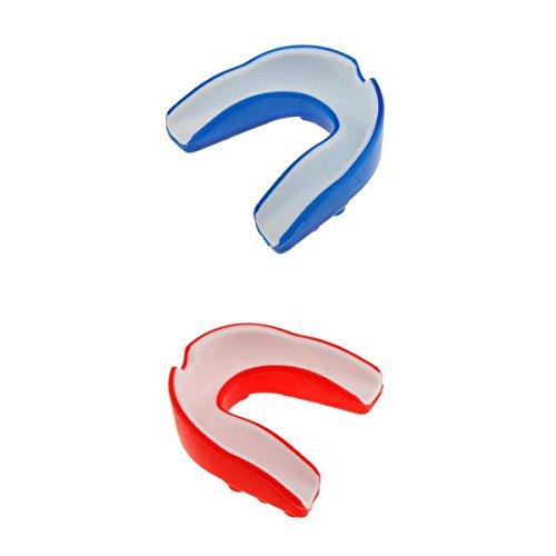 MagiDeal 2 Stück Silikon Mundschutz - Zahnschoner - Zahnschutz für Boxen MMA Kickboxen Hockey & Kampfsport