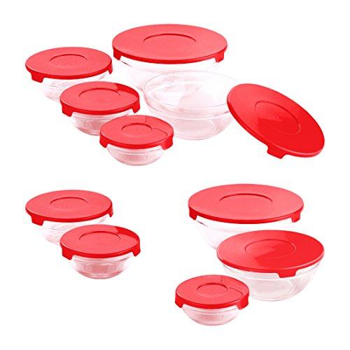 Renberg Set Teile Tupperware, Rot, 20x 19x 18cm, 20Stück