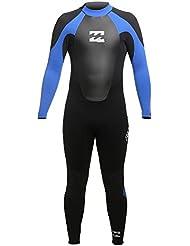 2017 Billabong Intruder 5/4mm GBS Back Zip Wetsuit in BLACK / Blue O45M15 Wetsuit Sizes - Large Short