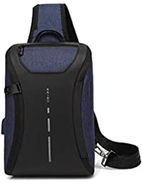 QWKZH Mochilas 35cmX21cmX10cm Mens Bag Single Shoulder Messenger Bags Waterproof Oxford Swiss Black Bags Business Briefcase