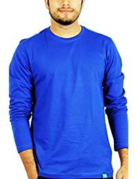 Full Sleeves 100% Premium Combed Cotton Round neck Royal Blue tshirt by The Banyan Tee