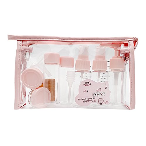 AimdonR Reise Flaschen Set,Multi-Size-Container Kulturbeutel Set, 10 Stück,Kosmetische Flasche