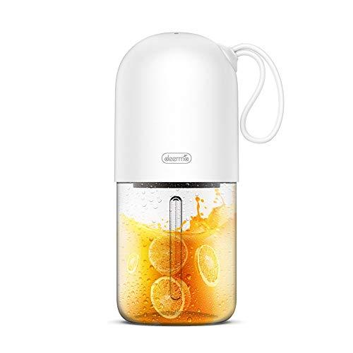 XIAOYUTOU Elektrische Saftpresse 400 ml Wireless Multipurpose Mini USB Rechargable Juice Cup Blender Cut Mixer weiß