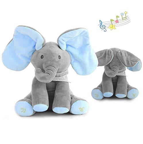 ant Animierte Reden Singen Gefüllte Plüsch Elefant Gefüllte Puppe Spielzeug Kinder Geburtstagsgeschenk,Blue+Gray ()