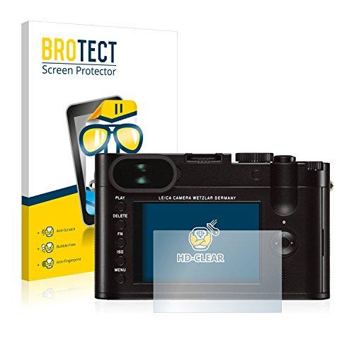 2x BROTECT HD-Clear Displayschutzfolie Leica Q (Typ 116) Schutzfolie Folie - Klar, Anti-Fingerprint