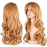 TOOGOO(R) 1 x 28 inch longue perruque crepelee pour deguisement/cosplay pour les femmes + un filet de protection pour cheveux