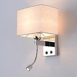 Cabecera Aplique Dormitorio Luz de lectura Moderno Sala de estar Paredes Luminaria Con el interruptor