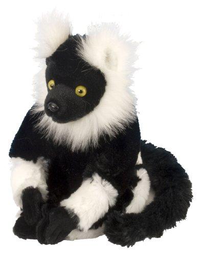 (Wild Republic 12271 Plüsch AFFE, Schwarz-Weiß Lemur, Cuddlekins Kuscheltier, Plüschtier, 20cm)
