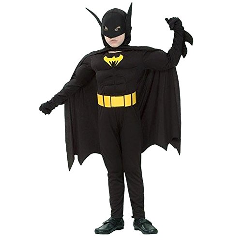 Bat-Man Kostüm für Kinder Alter 7-9 (Kostüm Bat Man)