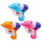 Toyvian Pistole ad Acqua Giocattolo 3pcs Water Blaster Soaker Acqua Squirt Giocattolo Delfino Piscina Estiva Spiaggia Giocattolo per Bambini (Colore Misto)