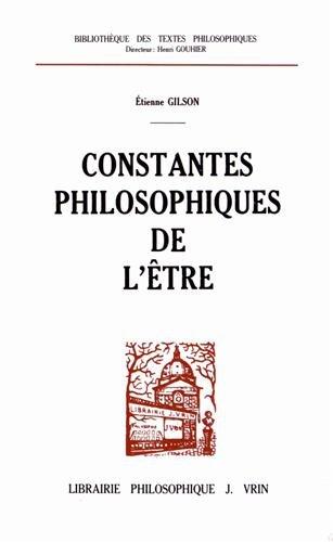 Constantes philosophiques de l'être